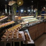 The display of food every night was fantastic. This is the pudding counter!!