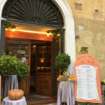 Entrance in the restaurant