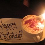 This was the cappuccino pannacotta especially decorated for my daughter's birthday