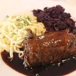 Rinderrouladen, Spätzle, Red Cabbage - all cooked and seasoned to perfection.