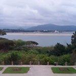 Vista de la bahía desde la ventana del salón.