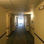 Dark hallways with inoperable lights.