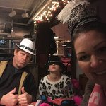 The Fam with our New Years hats! Enjoyed this visit