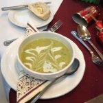 Christmas dinner starter pea soup