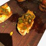 Shrimp bruschetta, delicious