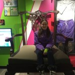 feeling small on a giant chair