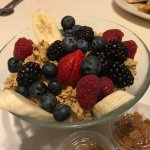 Oatmeal and fresh fruit - delicious