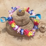 Sand Castle Building Contest - Recycled Summer Sand Snowman