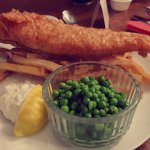 Beer battered haddock and skin on triple cooked chips