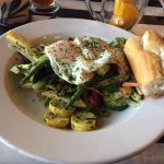 La Fricassee de Legumes--veggies and two medium fried eggs