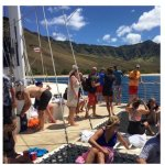 Fox Number 1 Club group enjoying the afternoon catamaran trip. Awesome!
