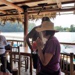 Rustic restaurant on Rio Dulce