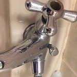 dirty sink broken tap