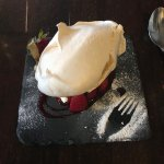The Small portion of the Strawberry Pavlova