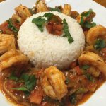 Shrimp in Red Sauce with Rice