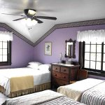 Room #2 Garden Room Located upstairs off the deck. 1 Queen, 1 Double, 1 Twin bed/ private bath