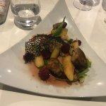 foie gras poelé aux pommes et aux framboises