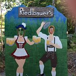 Bavarian photo op by the adorable beer garden! ;-)