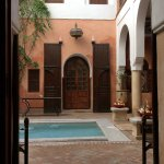 Looking across the riad to our room door