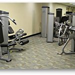 The 24-Hour Fitness Center features cardio and nautilus equipment, in addition to free weights.