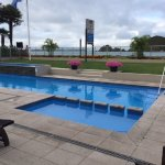 Pool at Kingsgate Hotel with waterfront views
