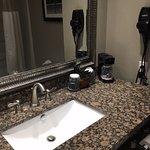 Granite counter in the bathroom