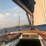 Nice sail boat to cruise around Santorini