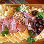appetizer plate in front of the fire