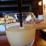 pisco sours in front of the fire