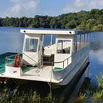 Gatun Lake. You can take a trip around the lake on this boat