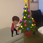 Setting up the christmas tree in my home away from home during the holidays........