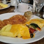 The Veggie Omlette at Madame Butterworks was really good!