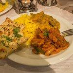 Pilau Rice, Afgani Lamb, Mushroom Baji, Garlic Naan