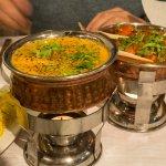 Afgani Lamb, Chicken Jalfrezi, Pilau Rice