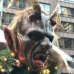 Krampus! Such an exciting part of St. Nicholas Day for my children...we were happy to see him!