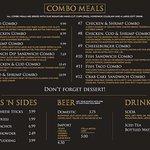 Chips 'n Ales menu - WinStar Casino
