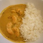 shrimp curry with rice...