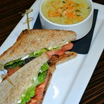 BLT Sandwich with Cream of Broccoli Soup