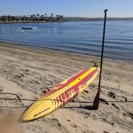 It was an easy launch from their beach for our paddleboards