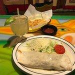 Steak Burrito and Margarita