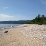 Agawa Bay Beach and Campground located right on Lake Superior, on a 3 km beach.