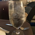 This was a glass of water delivered with room service that was frozen solid