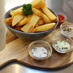 Fancy a snack with your beer? Why not try our delicious chips with their dips.