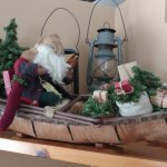 Santa visits the Pines Cottage