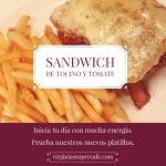 Sandwich de Tocino y Tomate. Nuevo Enero 2018.