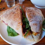 Vegetarian Panini - delicious and a decent size