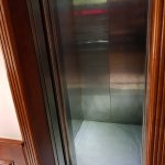 Lift on 2nd floor just fitted 3 adult + 1 suite case ea
