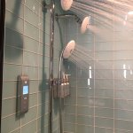 3 shower heads with digital temperature control