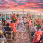 Beres wedding at sunset