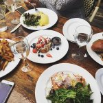 French toast, Bobo burger, Omlette, and Smoked salmon, (August 2016)